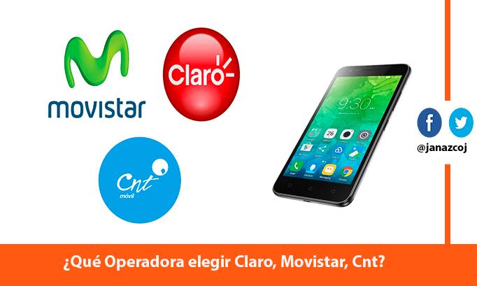Operadoras Claro, Movistar, CNT del Ecuador