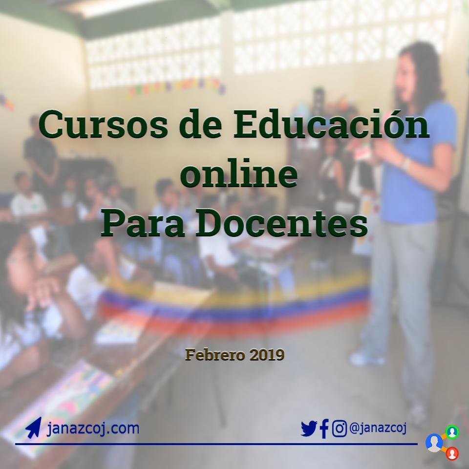 Cursos de educación online para docentes.